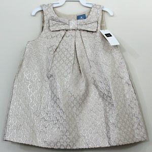 Baby Gap Ivory Metallic Gold Dress